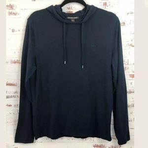 Michael Kors Hooded Long Sleeve Tee Navy Blue